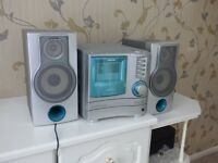 Aiwa HiFi Unit with triple CD player, Cassette Player and Stereo FM Radio