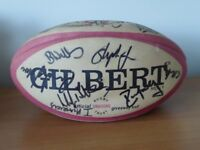 Newport Dragons signed Gilbert rugby ball