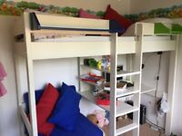 Stompa high sleeper bed with desk and chair