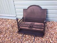 Fire grate, fire back and ash pan