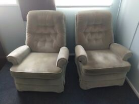 Pair of reclining armchairs