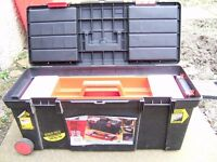 ZAG Toolbox on wheels with trays 26 inch as new