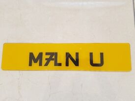 MANCHESTER UNITED CHERISHED PRIVATE PERSONAL PERSONALISED PRIVATE NUMBER PLATE FOR SALE MAN U UTD