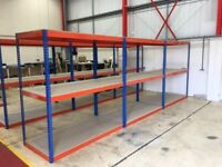 Brand new Super heavy duty long span shelving 900mm deep RRP £29,000. ( pallet racking , storage )