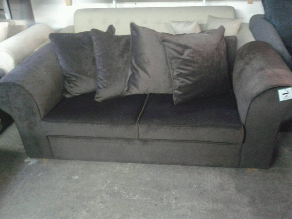 Anita Sofa Bed In Brown Fabric Very Good Value At Only 135