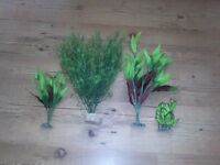 Artificial plants for sale for fish tanks.
