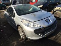 PEUGEOT 207 GT CC 1.6 16v 5FW DAMAGED SALVAGE BREAKING SPARE PARTS 2007-2012