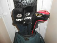 Full set of Hippo golf clubs for sale with Hippo stand bag and extra clubs
