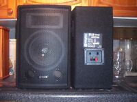 SKYTEC SPEAKERS AND STANDS