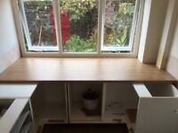 Kitchen Worktops 3 matching lengths New and Unused, medium oak laminate work top, extra wide