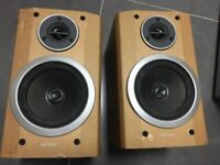Two Sony speakers and one none branded speaker