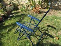 2 adjustable garden loungers