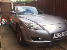 Mazda RX8 231 For Sale (with 3/4 tank fuel) MOT, Drive Away, 6 speed manual, leather