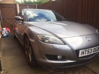 Mazda RX8 231 For Sale (spares, works tho read descrip) (with 3/4 tank fuel) MOT, leather