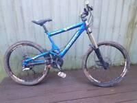 Giant team dh mountain bike