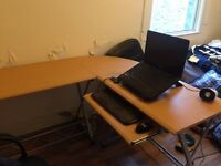 L-Shaped Large Corner/Interchangeable Computer Desk