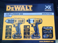 Dewalt DCK211C2 10.8v Lithium Ion Drill and impact driver combo 2x1.3ah batteries brand new