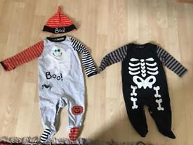 2 Halloween costumes for boys - 3-6 months