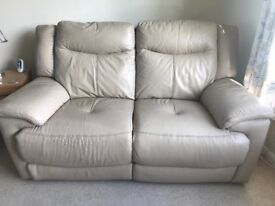 2 seater Electric recliner leather sofas