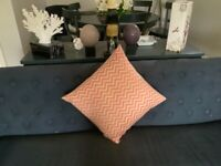3 Feather and Black cushions