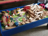 Childrens Play Table with Wooden Toys