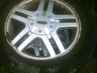 ford fiesta /focus alloys with good tyres