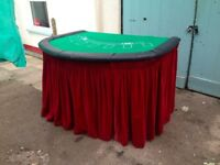 Black Jack Table, handmade and professional looking.