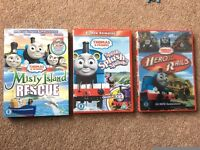 3 Thomas and Friends DVDs: Hero of the Rails, Splish Splash Splosh & Misty Island Rescue. VG cond.