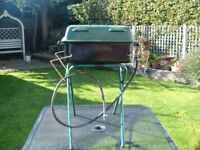 BBQ * Gas barbecue, sits on a suitable table or can use the stand supplied
