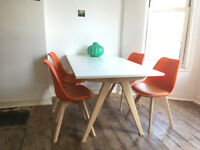 Habitat (Jerry) dining table and 4 chairs