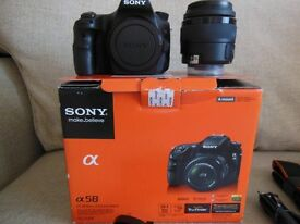 Sony Alpha A58 20.4MP Digital SLR Camera - Black (Kit w/ DT 18-55mm Lens). Brand New, Ex Display.