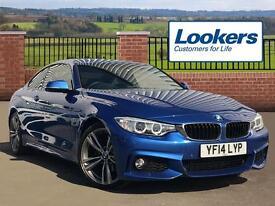 BMW 4 Series 420D M SPORT (blue) 2014-05-19