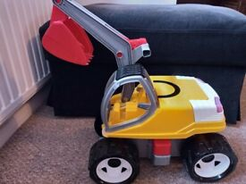 Sit-on digger toy