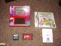 NINTENDO DSI LITE MINT CONDITION WITH GAMES AND FITNESS COACH