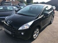2012/62 PEUGEOT 3008 1.6 HDI ACTIVE, IDEAL FAMILY CAR WITH GREAT MILES PER GALLON AND NEW MOT