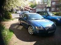 Audi TT, blue, full service history, well looked after. Leather seats, electric windows, alloys