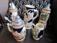 Collection Of German Steins.