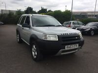 2003 Land Rover Freelander TD4. Spares or repair has MOT.