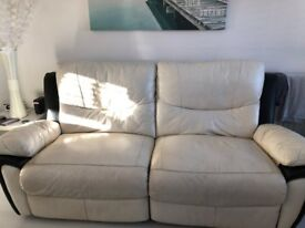 Leather recliners 3 ,2,1 suite