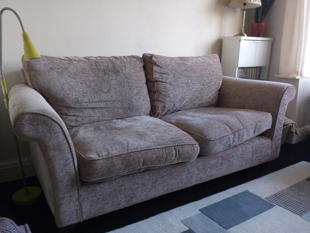 John Lewis Charlotte Large Sofa In Hampton Mink Fabric