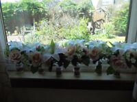 table flowers suitable for wedding/naming day etc x 8