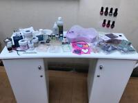 Nail desk and products