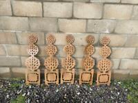 5 x Garden ornaments