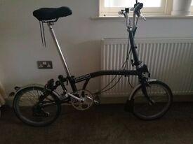Black Brompton Bike + Brompton T Bag