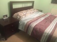 King size bed with side tables and ortho mattress