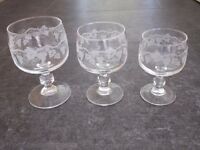 French Luminarc Wine Glasses