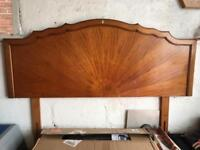 Solid wood headboard
