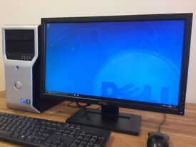 POWERFUL DELL WORKSTATION XEON 4 CORE X 3.10Ghz - 16 GB Ram - GeForce Graphics Desktop PC