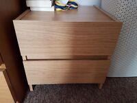 2 drawer side cabinet