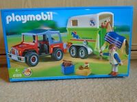 Playmobil bundle Jeep and horse box 4189 and Horse washing station 4193